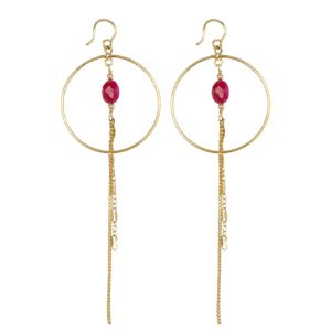 Une a Une - Earrings Inde Pierres Ruby