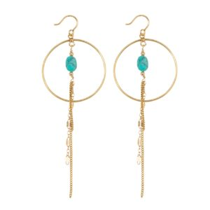 Une a Une - Earrings Inde Pierres Turquoise BOILT