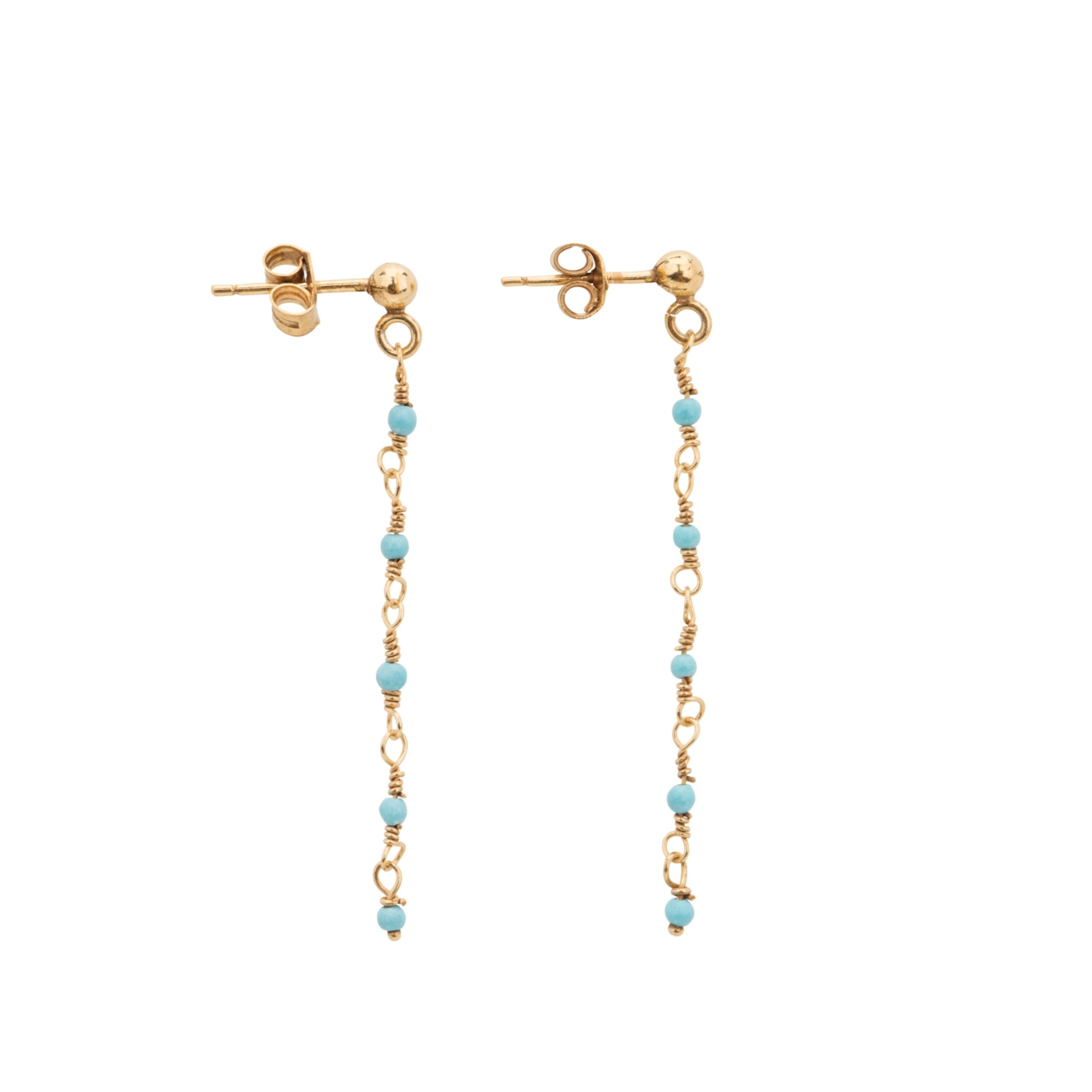 Une a Une - Earrings Inde Turquoise BOCLT