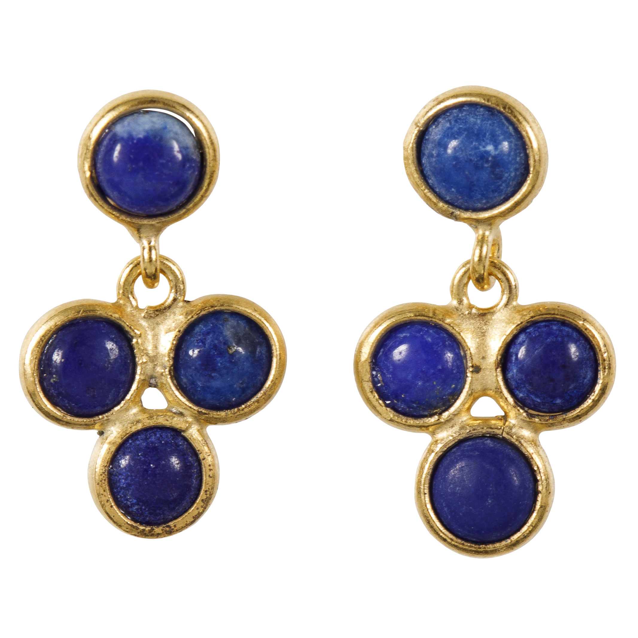 Une a Une - Earrings Lapis Lazuli BO3FI