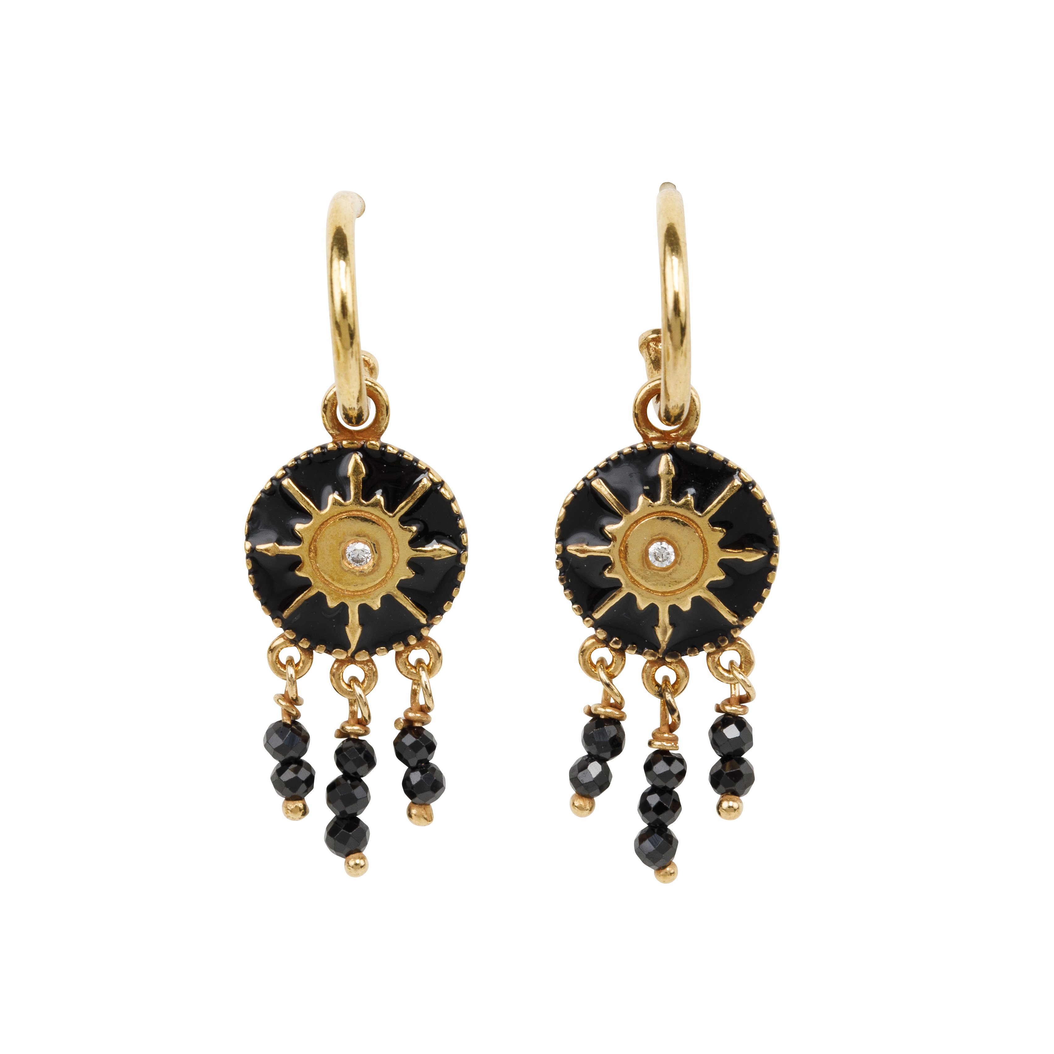 Une a Une - Earrings Pacifique Black BORVN