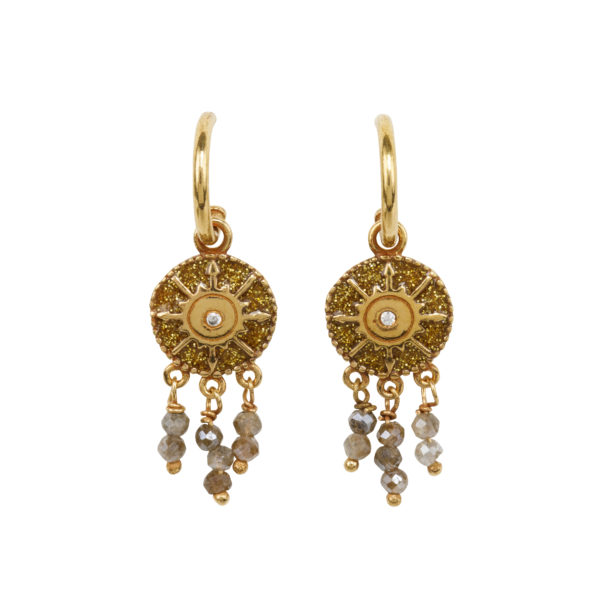 Une a Une - Earrings Pacifique Gold BORVD