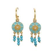 Une a Une - Earrings Pacifique Turquoise BORVT