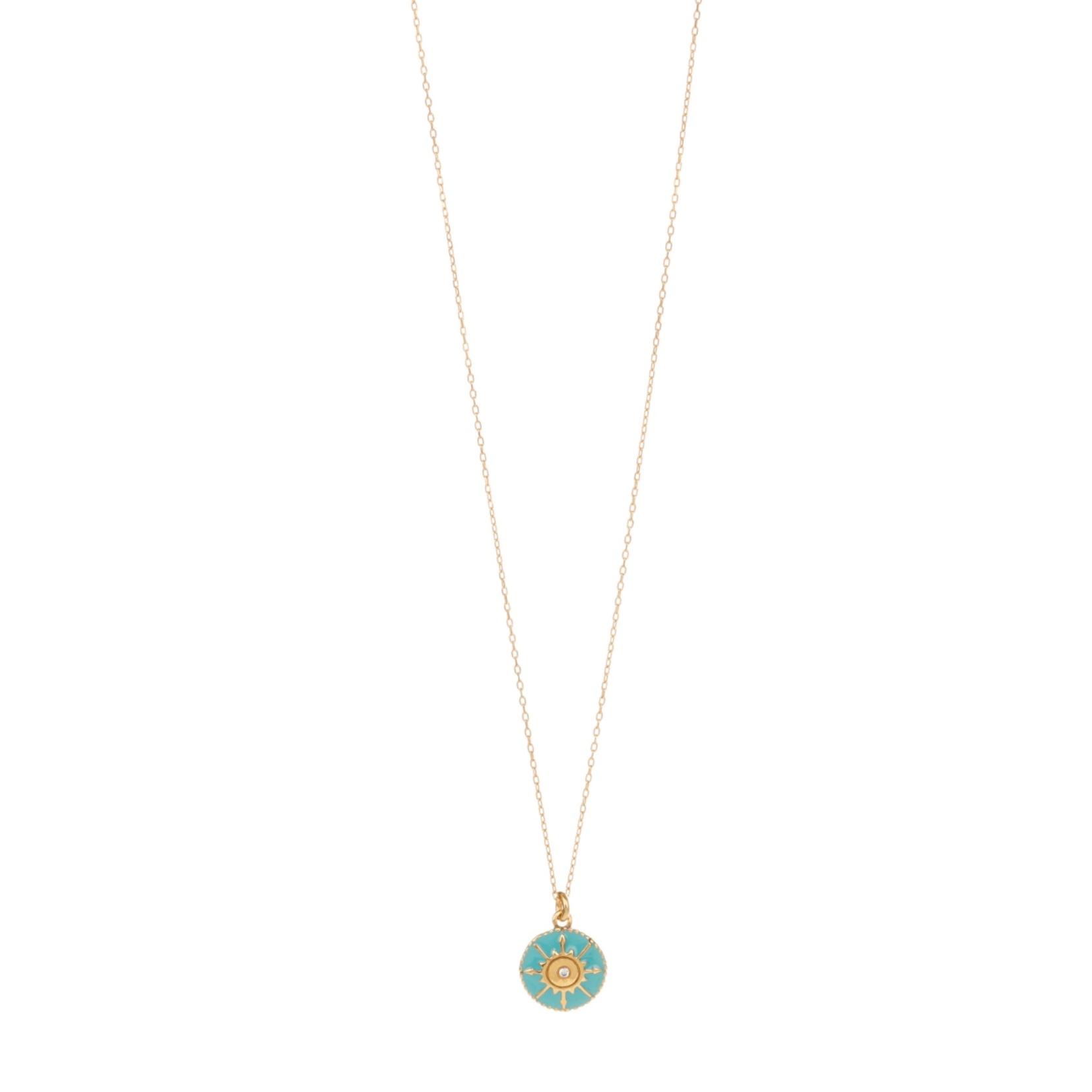 Une a Une - Necklace Compass S Turquoise CRVTT