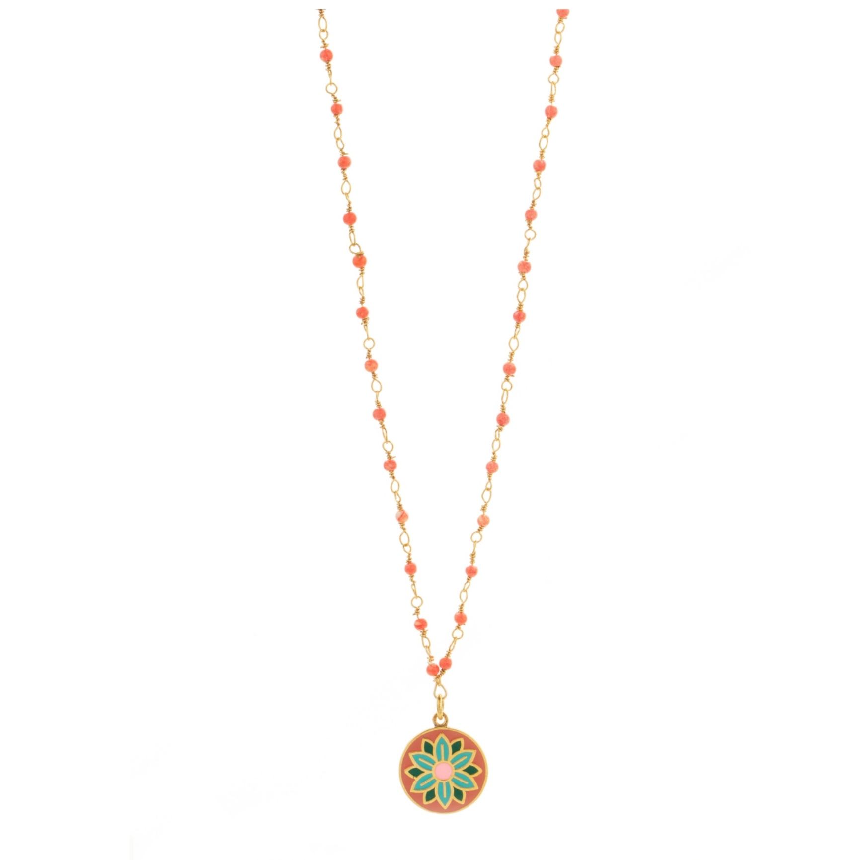 Une a Une - Necklace Jaipur Coral
