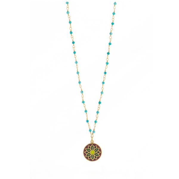 Une a Une - Necklace Jaipur Turquoise CPJB