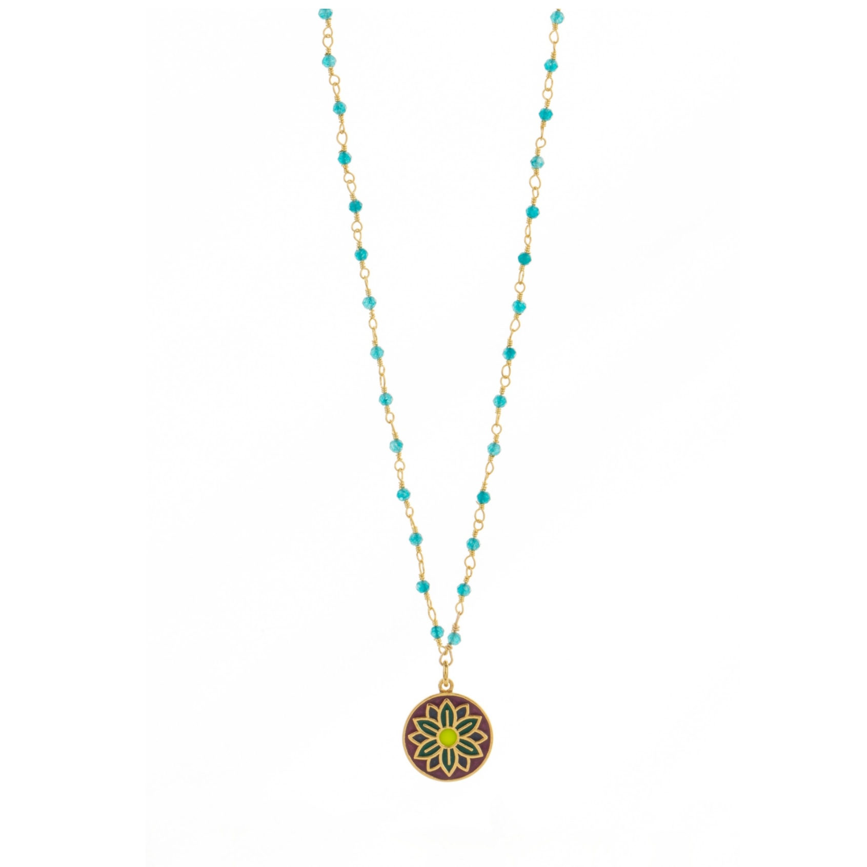 Une a Une - Necklace Jaipur Turquoise CPJB