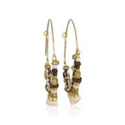Gas Bijoux - Comedia Brown Earrings 2
