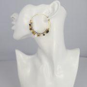Gas Bijoux - Comedia Brown Earrings model