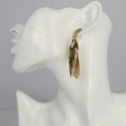 Gas Bijoux - Feather Earrings Nude model