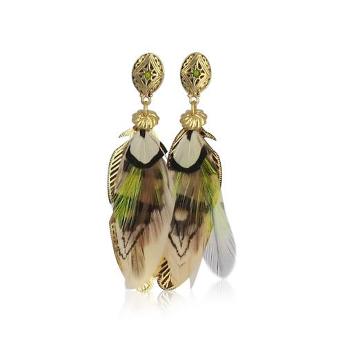 Gas Bijoux - Feather Earrings Nude