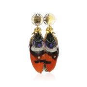 Gas Bijoux - Feather Earrings Orange