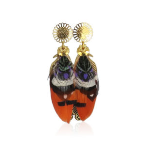 Gas Bijoux - Feather Earrings Orange