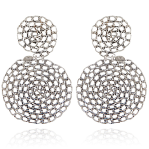 Gas Bijoux - Onde Gourmette Silver Earrings