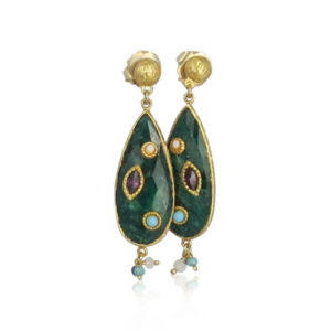 Gas Bijoux - Pierrot Earrings Green