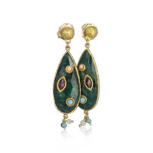 Gas Bijoux - Pierrot Earrings Green