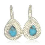 Pink Sand Jewelry - Earrings Silver Small Drops Blue
