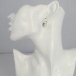 Pink Sand Jewelry - Earrings Silver Small Drops Blue mdoel