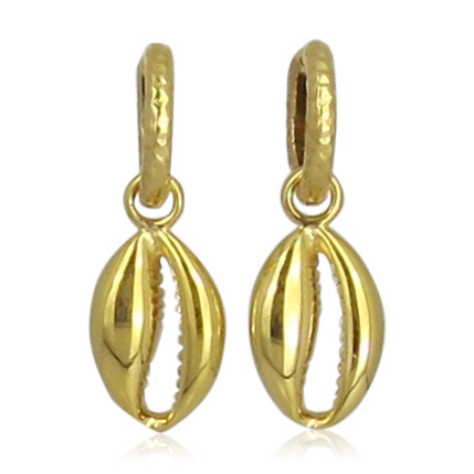 Pink Sand Jewelry - Hoops Cowry Gold