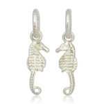 Pink Sand Jewelry - Hoops Seahorse Silver