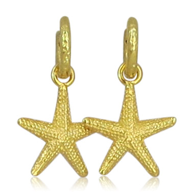 Pink Sand Jewelry - Hoops Stars Gold