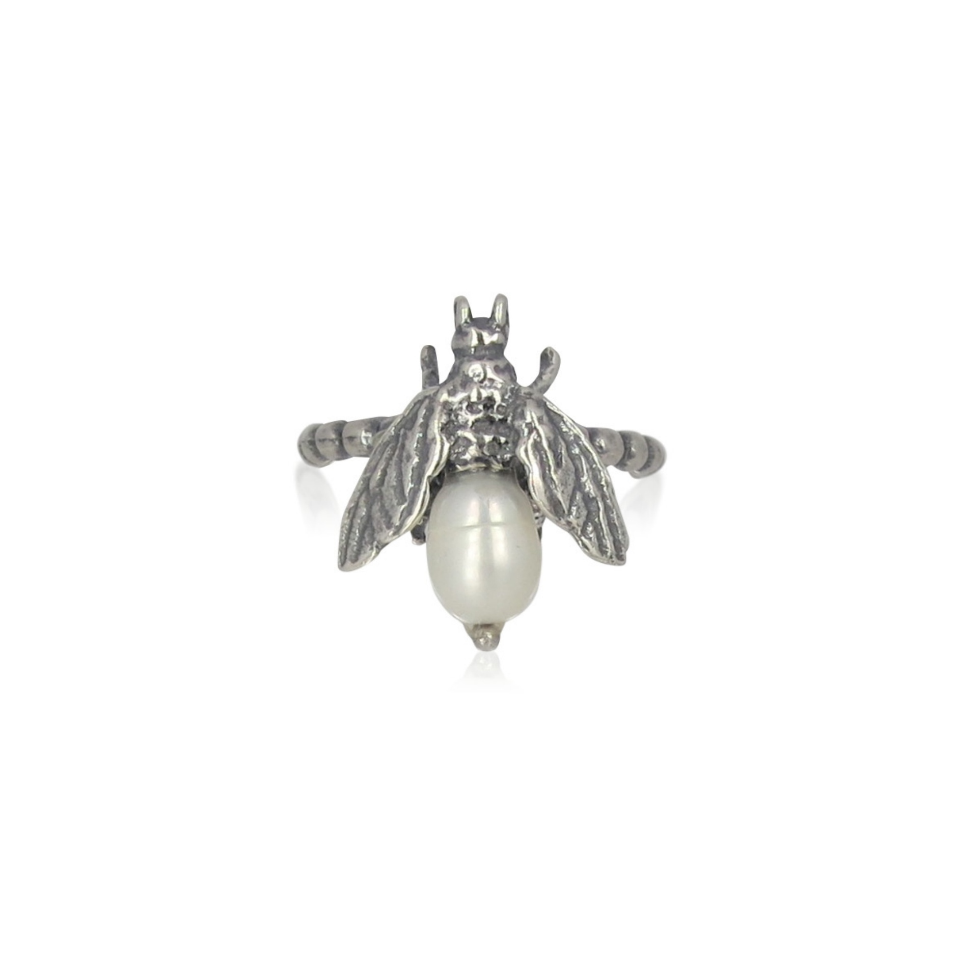 Gem Kingdom - Bee Ring White Pearl 01