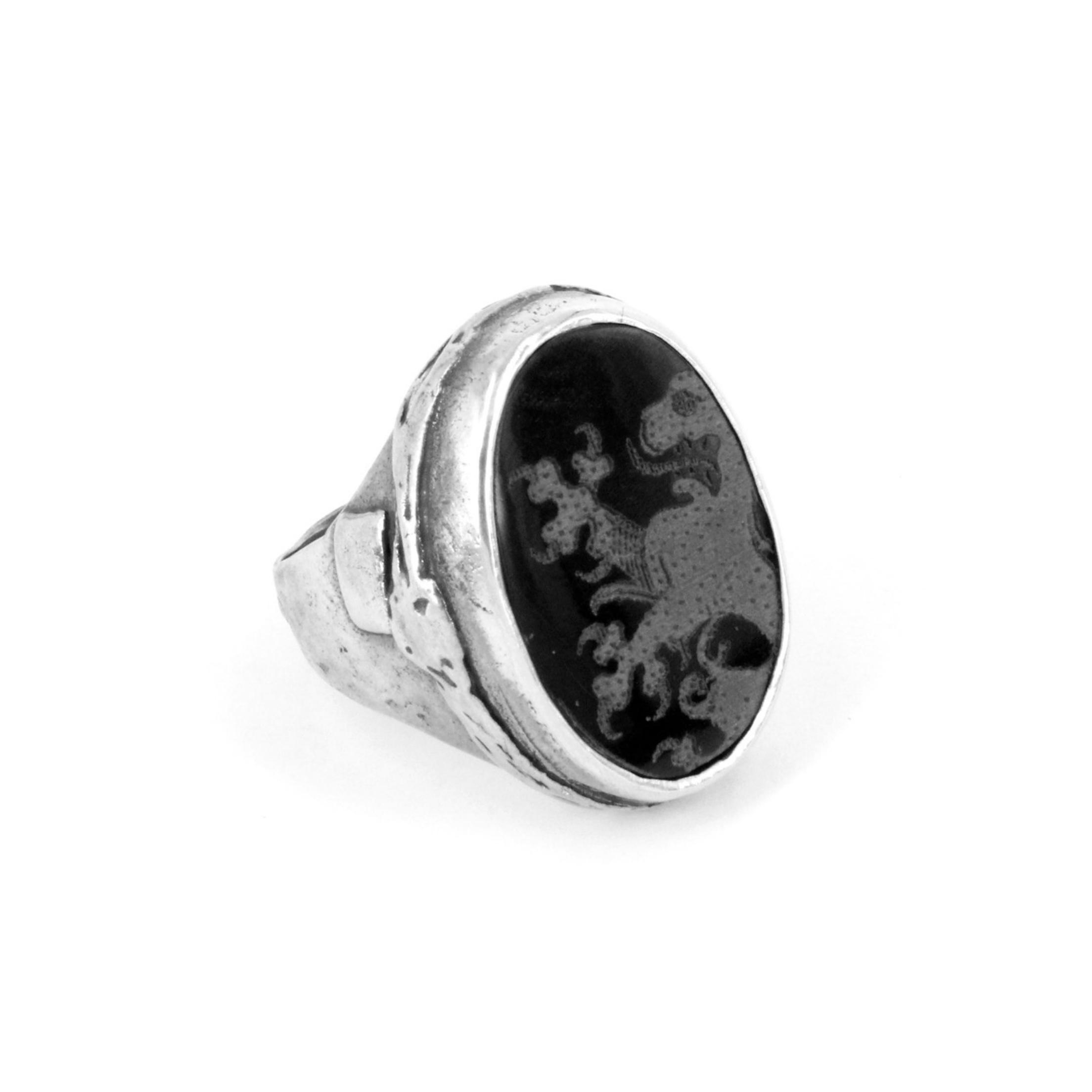 Gem Kingdom - Black Ring R17m01B 1