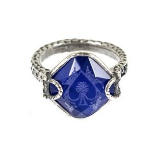 Gem Kingdom - Blue Composite Tigereye Ring R18e08B A