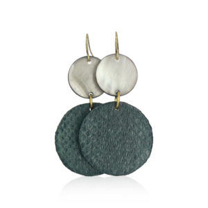 Lara Design - Dark Green Snake Earrings