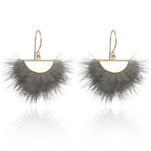 Lara Design - Earrings Fluffy Grey a