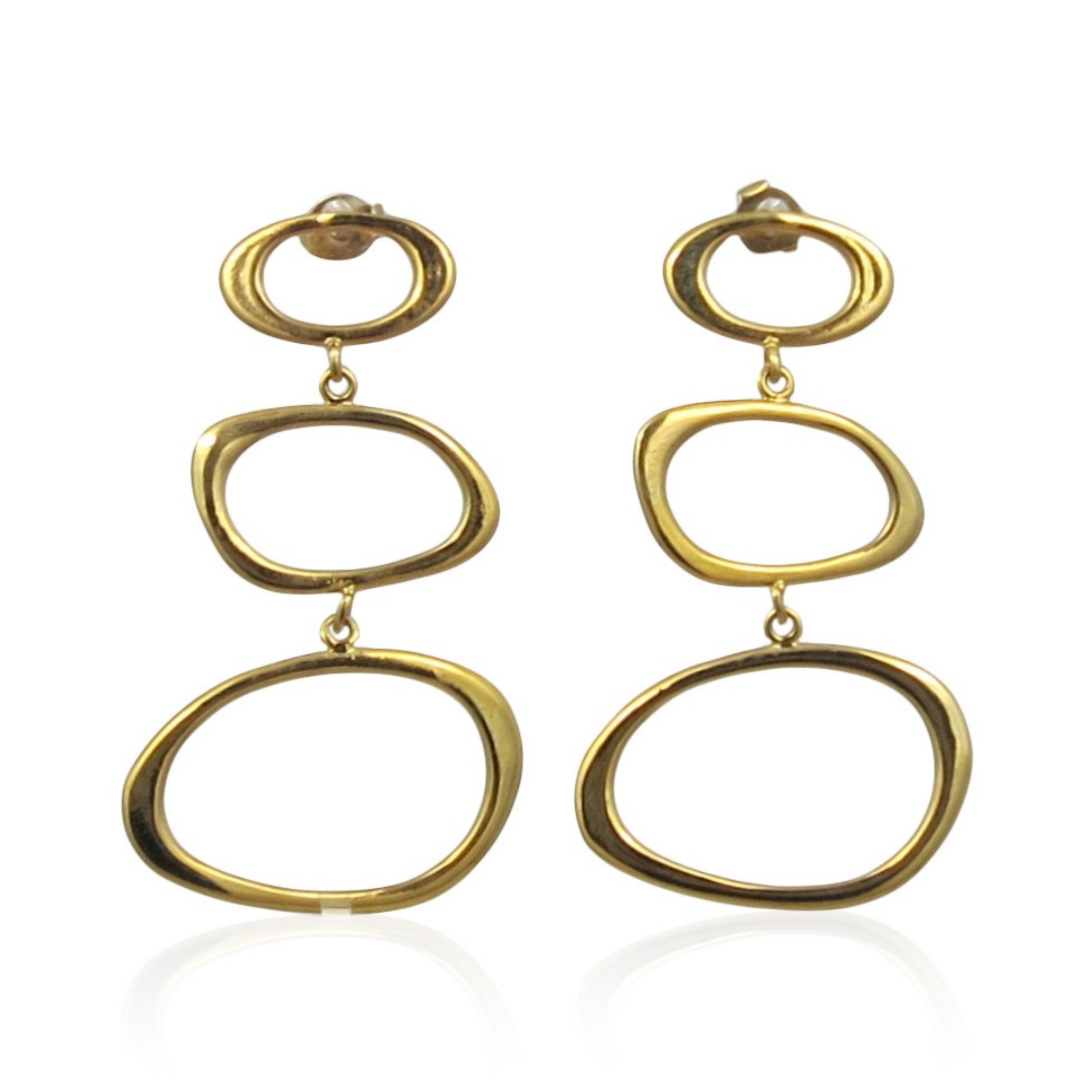 Lara Design - Earrings Gold Shapes A