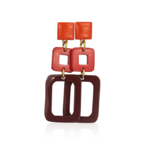 Lara Design - Orange Red Brown Earrings