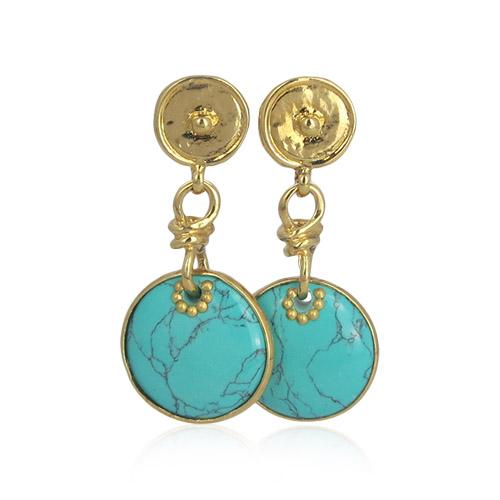 Gas Bijoux - Arizona Turkoois Earrings