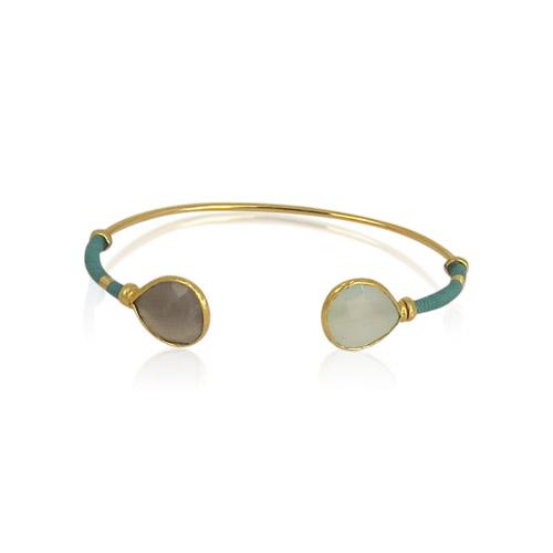 Gas Bijoux - Duality Bracelet Amazonite