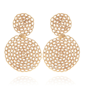 Gas Bijoux - Onde Gourmette Gold Earrings