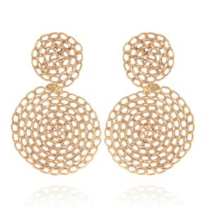 Gas Bijoux - Onde Gourmette Gold Earrings