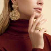 Gas Bijoux - Onde Gourmette Gold Earrings model
