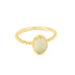 Gem Kingdom - Aqua Onyx Ring Gold R15a04