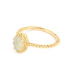 Gem Kingdom - Aqua Onyx Ring Gold R15a04 2