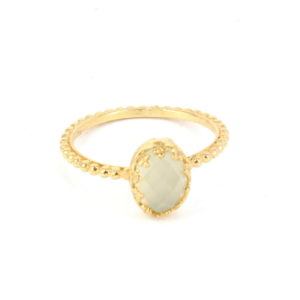 Gem Kingdom - Aqua Onyx Ring Gold R15a04