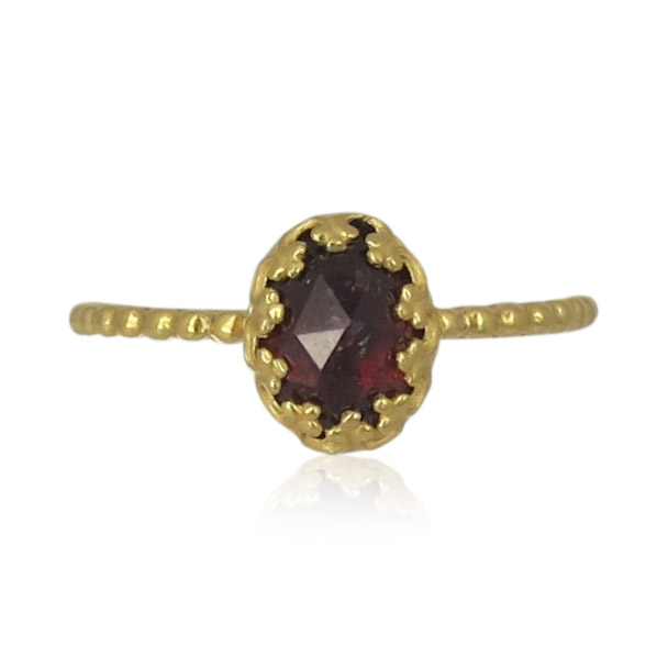 Gem Kingdom - Garnet Ring Gold R15a04 3