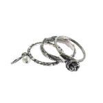 Gem Kingdom - Little Pearl Ring Silver R17a09A set