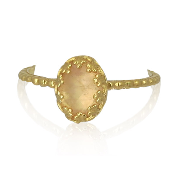 Gem Kingdom - Rosequartz Ring Gold R15a04 2