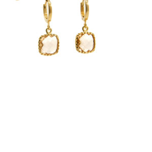 Lilly Jewelry - Earrings Square Champagne