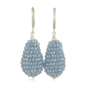 Lilly Jewelry - Silver Grape Drop Light Blue