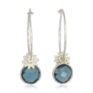 Lilly Jewelry - Silver Rings Blue Topaz