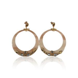 Gas Bijoux - Lodge Earrings Nude