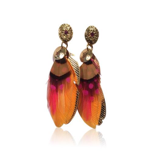 Gas Bijoux - Sao Feather Pretty Orange