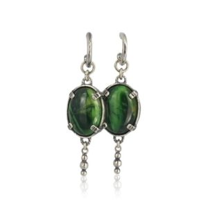 Gem Kingdom - Green Tigereye Earrings E19a12