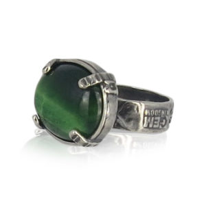 Gem Kingdom - Green Tigereye Ring R19a11